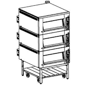 Печь подовая с парогенератором ППЭ-800-3П тулаторгтехника